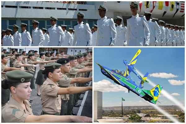 Bruno Batista/Divulgação - Reprodução/Exército - Marinha do Brasil/Divulgação