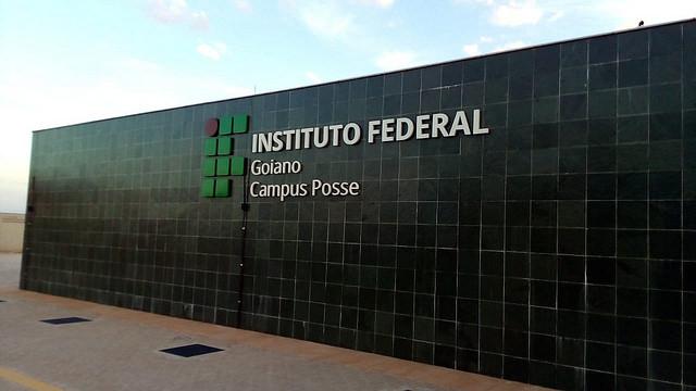 Parede do campus de Posse, do IF Goiano